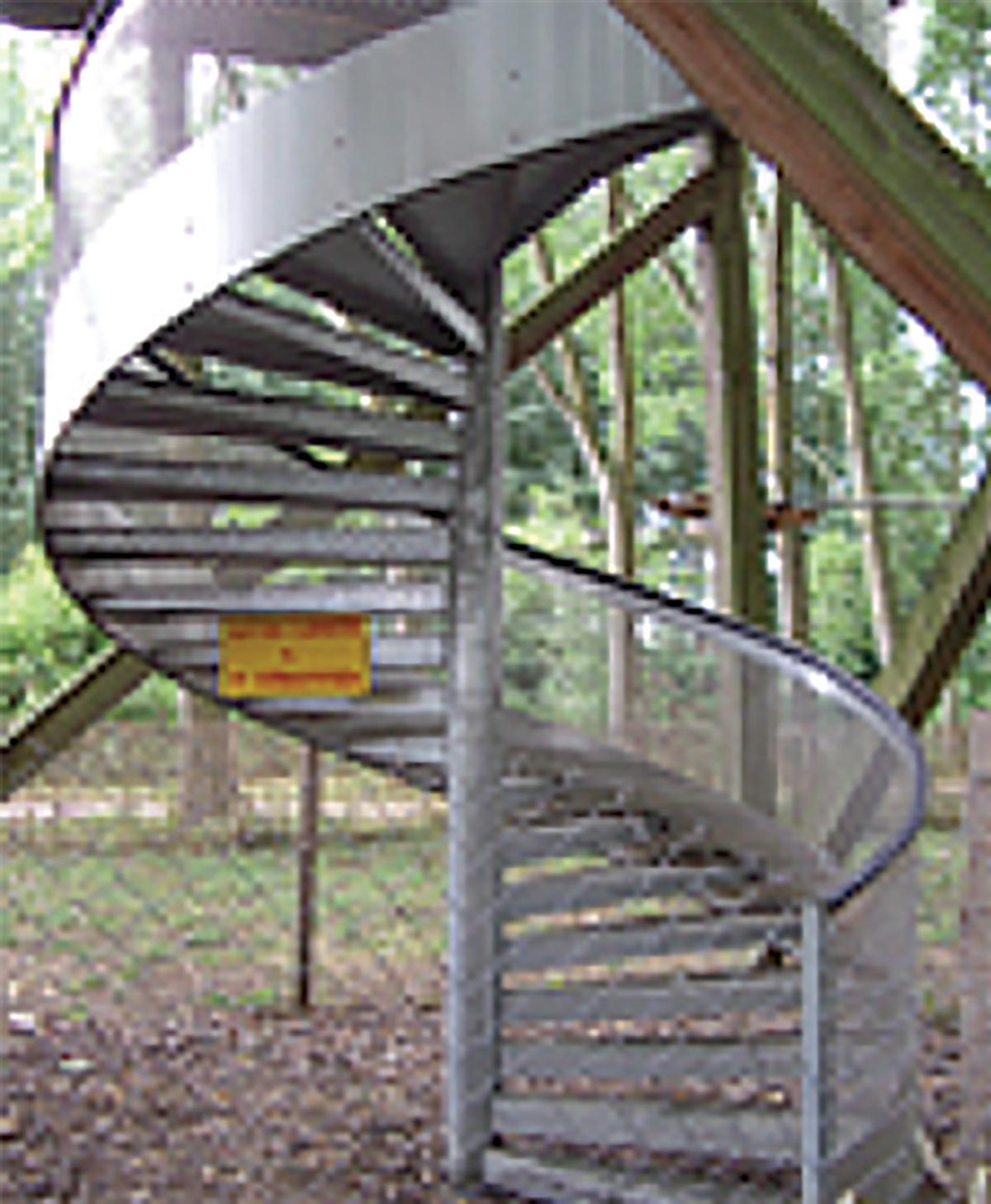 escalier colimaçon metallique